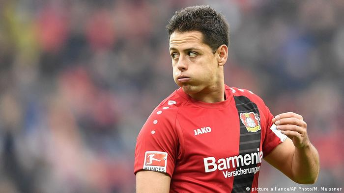 Deutschland Bayer Leverkusen - 1899 Hoffenheim Javier Hernandez (picture alliance/AP Photo/M. Meissner)