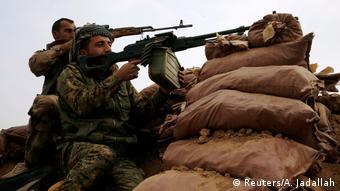 Irak Region Mossul Peschmerga Kämpfer