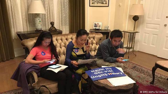 Clinton Kampagne Phone Bank (DMV AAPIs for Hillary)