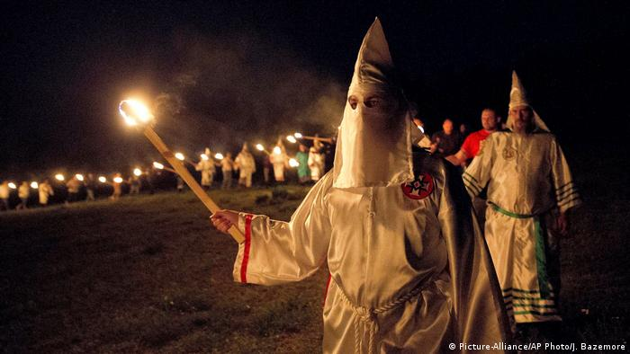 Ku Klux Klan members in 2016 (Picture-Alliance/AP Photo/J. Bazemore)