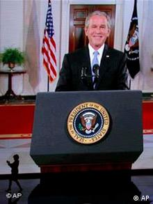 George W. Bush appearing at the Republican convention via video -- briefly