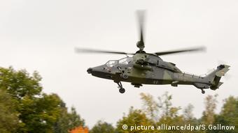 Ein Kampfhubschrauber vom Typ Tiger (Foto: picture alliance/dpa/S.Gollnow)
