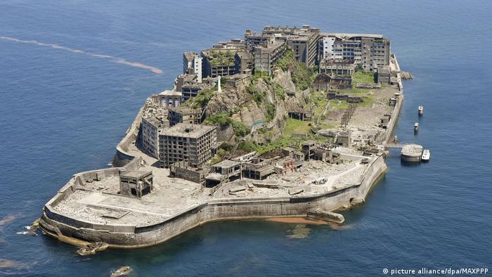 Город-призрак на острове Хасима