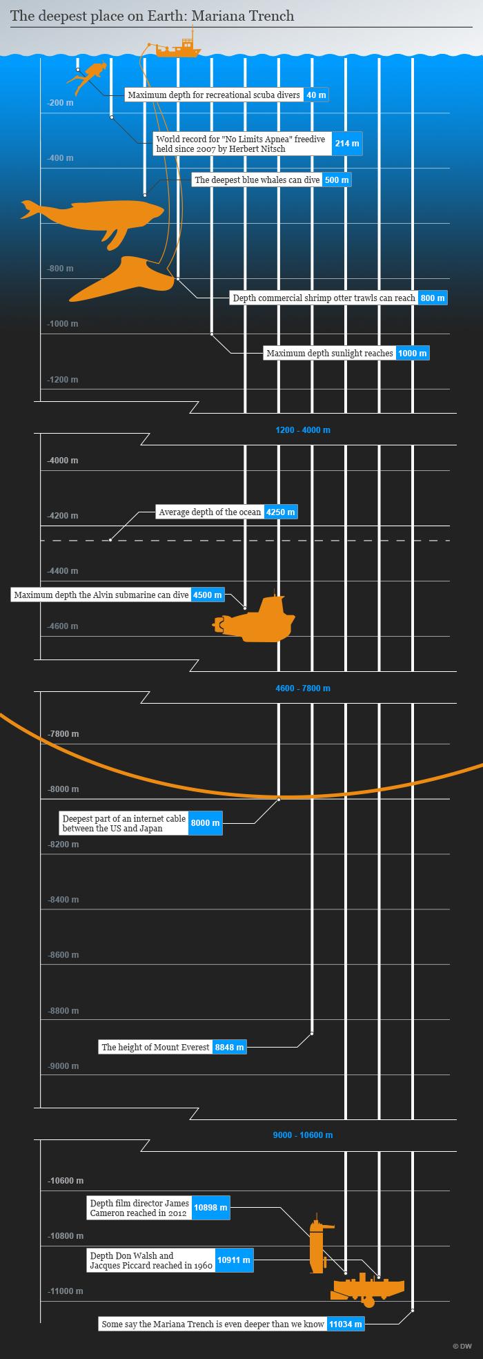 Infografik Meerestiefen Englisch TEST!