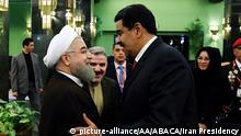 Iran venezolanischer Präsident Nicolas Maduro besucht Präsident Hassan Rohani