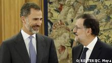 Spanien | Premierminister Mariano Rajoy mit König Felipe im Zarzuela Palast
