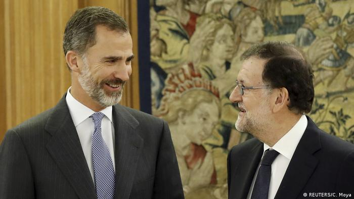 Spain's acting prime minister meeting with the king