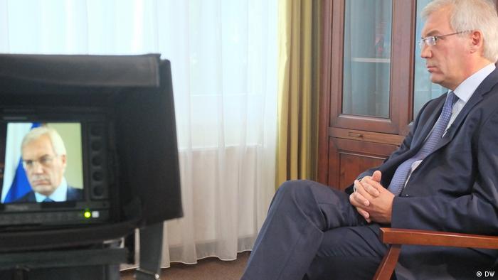 Александр Грушко на записи программы Conflict Zone