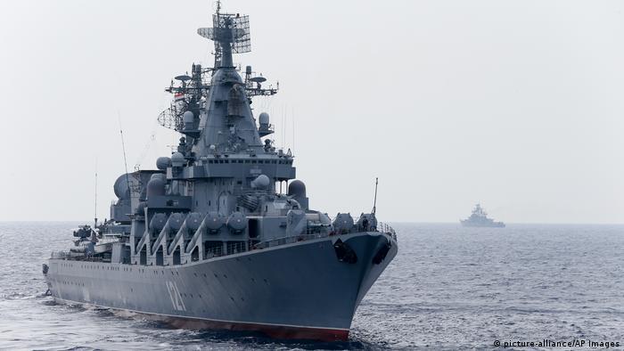 سفينة حربية روسية قبالة الساحل السوري في ديسمبر 2015