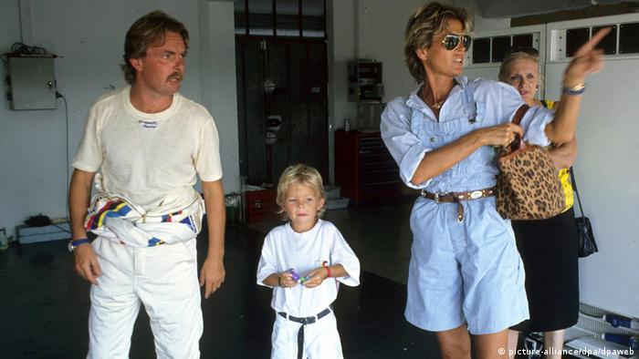 Keke, Nico y Sina Rosberg.