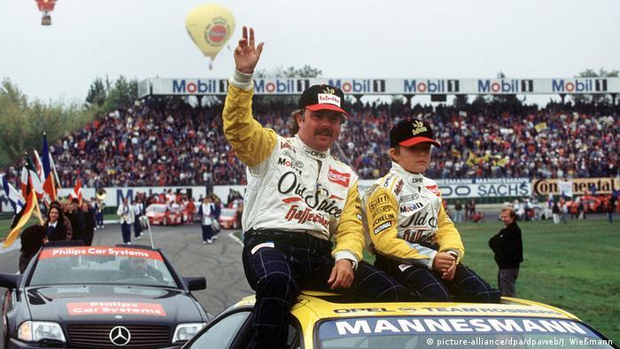 Keke y su hijo Nico Rosberg en 1995.