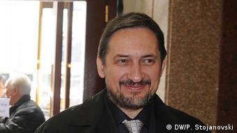 Mazedonien Ljubco Georgievski Präsident der VMRO-NP-Partei (DW/P. Stojanovski)