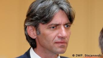 Mazedonien Zijadin Sela Präident der DPA Neue Partei (DW/P. Stojanovski)