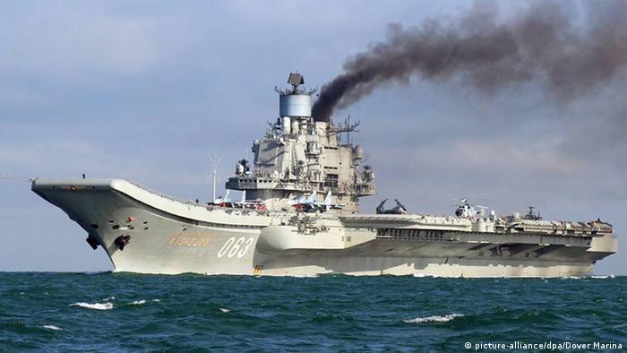 Admiral Kusnezow Russland Flugzeugträger (picture-alliance/dpa/Dover Marina)