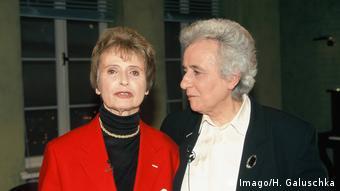 Holocaust-Überlebende Renate Lasker Harpprecht (links) und Anita Lasker Wallfisch .Die Schwestern waren zunächst in Auschwitz, dann in Bergen-Belsen im Konzentrationslager (Foto: Imago/H. Galuschka)