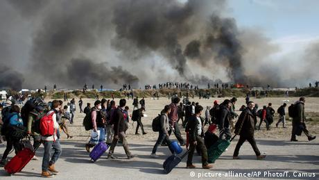 Around 10,000 refugees had made the Jungle their home since they arrived in the continent last year. Calais officials had been struggling to remove the camp amid residents' protests.
