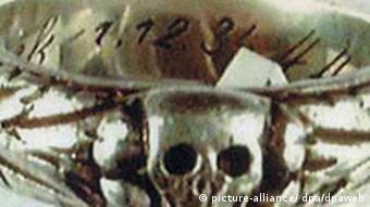 Stolen Nazi jewellery: a skull ring with Heil Hitler inscription