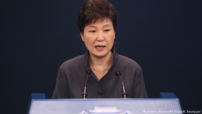 Former South Korean President Park Guen-hye