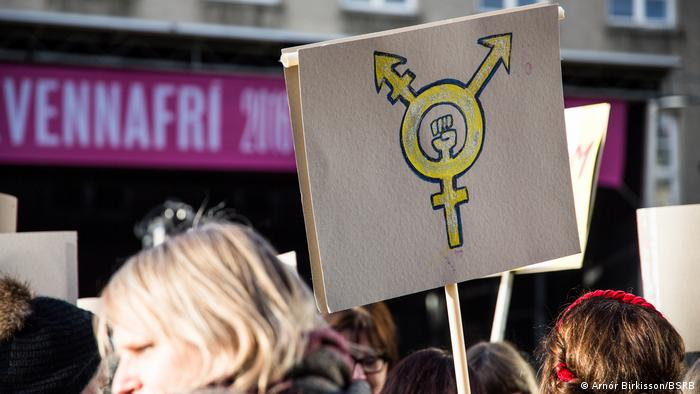 Frauen protestieren in Island wegen Gender Pay Gap (Foto: Arnór Birkisson/BSRB)