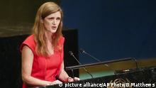 United Nations Samantha Power UN Rede Embargo Kuba