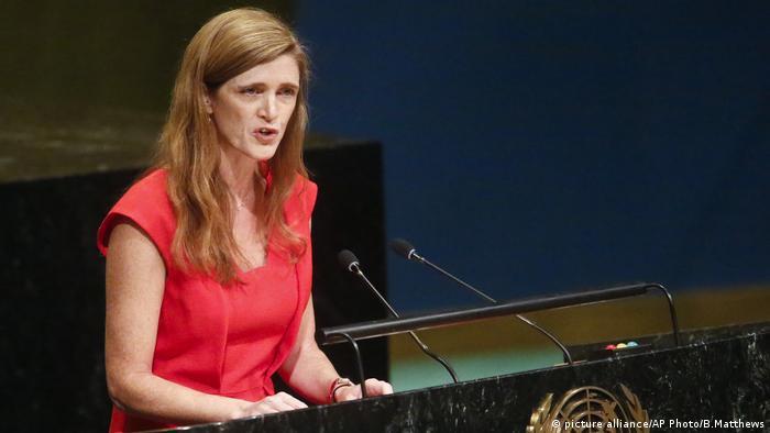 """La embajadora estadounidense ante la ONU, Samantha Power, explicó que Washington cambiaría su política, porque """"fracasó en lograr su meta de aislar a Cuba, y en cambio aisló a Estados Unidos"""". 26.10.2016"""