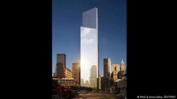 Außenansicht Four World Trade Center (Foto: Maki & Associates, TECTONIC)