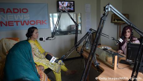 Pakistan Anila Ansari Moderatorin Power 99 FM Radio (Getty Images/AFP/A. Qureshi)