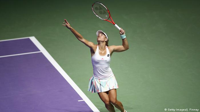 Singapur Tennis WTA Finale - Angelique Kerber vs. Madison Keys (Getty Images/J. Finney)