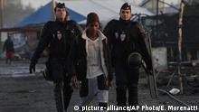 Frankreich Auflösung des Flüchtlingslagers Dschungel von Calais
