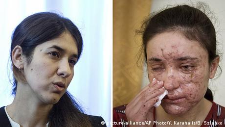 Bildkombo Nadia Murad Basee Lamija Adschi Baschar (picture-alliance/AP Photo/Y. Karahalis/B. Szlanko)