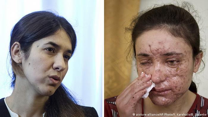 Ativistas yazidis Nadia Murad e Lamiya Aji Bashar