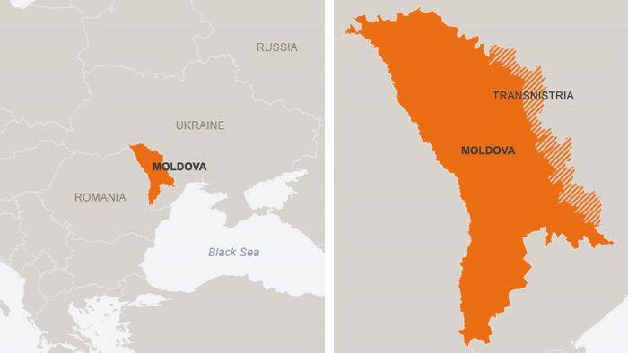 Transnistria Not On The International Communitys Map Europe - Transnistria map