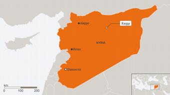 Karte Syrien Raqqa EN