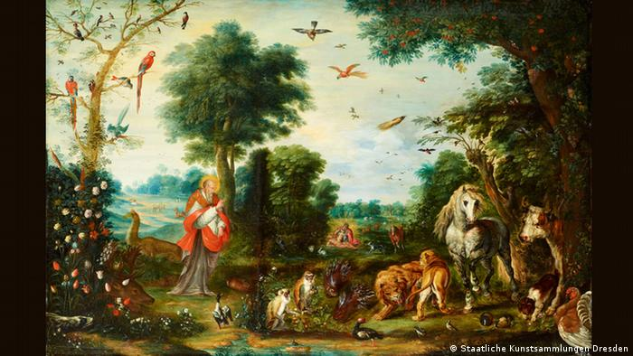 Jan Breughel II: Paradise landscape with the creation of animals (Staatliche Kunstsammlungen Dresden)
