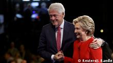 USA Hillary Clinton und Bill Clinton