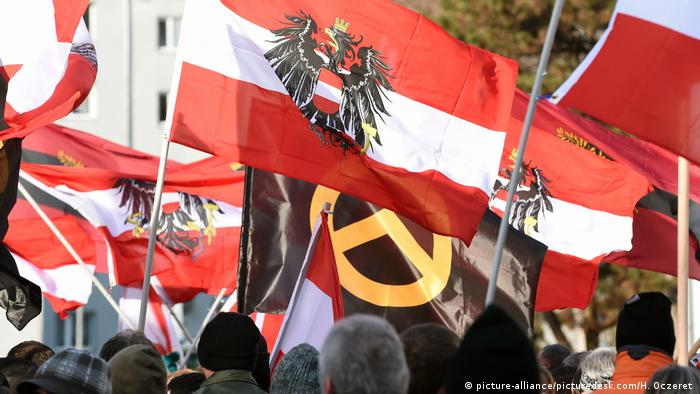 A protest rally by Austria's Identitarian movement (picture-alliance/picturedesk.com/H. Oczeret )