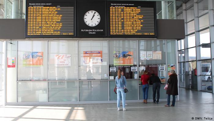 Kroatien - Busbahnhof Osijek
