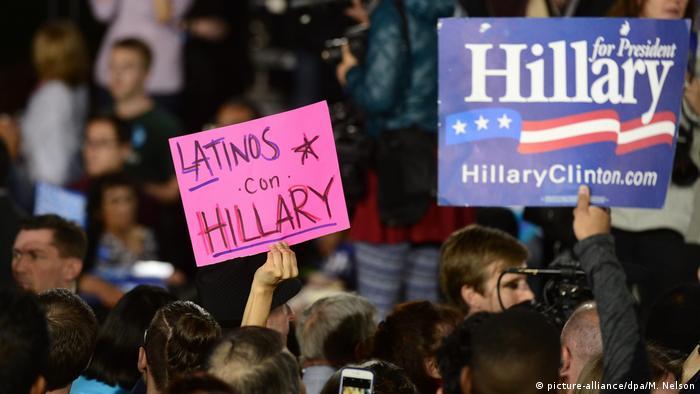 USA Wahlkampf Demokraten Hillary Clinton - Latino Anhängerschaft Nevada (picture-alliance/dpa/M. Nelson)