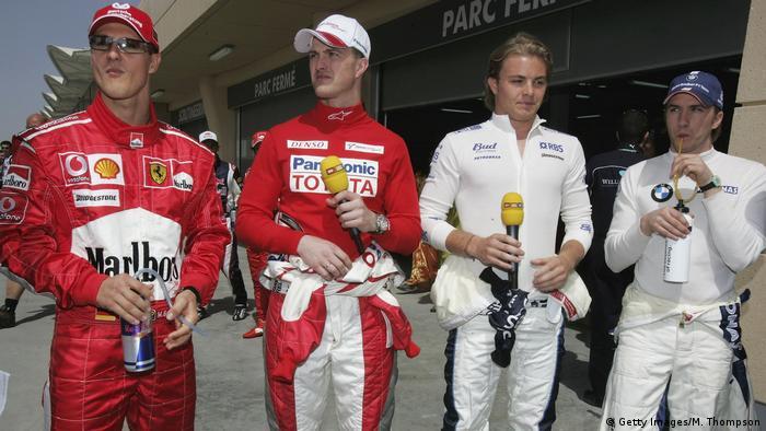 Nico Rosberg en su primera carrera de la Fórmula Uno.