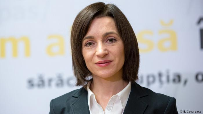 Republik Moldau Präsidentschaftswahlen - Maia Sandu. pro-europäische Kandidatin (E. Covalenco)