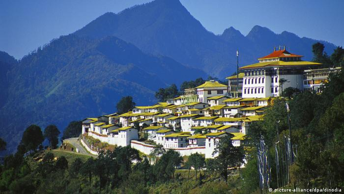 The Galden Namgyal Lhatse monastery is the biggest Tibetan Buddhist monastery in India