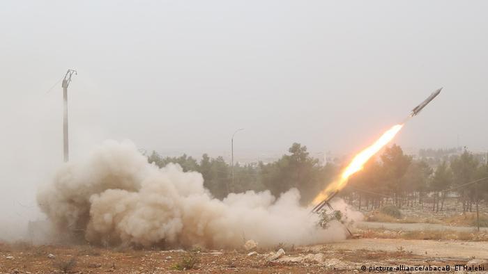 Наступление повстанцев на позиции правительственных войск в Сирии