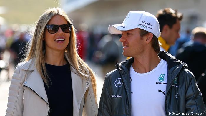 Formel 1 Rennfahrer Nico Rosberg Ehefrau Vivian Sibold (Getty Images/C. Mason)