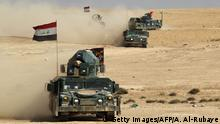 Irak Regierungstruppen bei Mossul