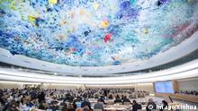 Unter dem Deckengemälde von Miquel Barceló: Sitzung des Menschenrechtsrates in Genf (Archivbild)