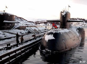 Decommissioned Russian nuclear submarines are shown in their Arctic base of Severomorsk, the Kola Peninsula in this 1998 file photo. A senior Russian official said Tuesday Nov. 9, 1999 that 18 nuclear submarines will be dismantled next year and new techniques are being developed to speed up the process. Since the 1991 Soviet breakup, the United States and other Western countries have provided several billion dollars to help Russia dismantle and destroy its weapons of mass destruction as required under arms control agreements. (AP Photo/str)