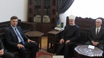 Bosnien und Herzegowina | Der Kroatische Ministerpräsident Andrej Plenkovic und der Großmufti von Bosnien und Herzegowina Husein Kavazovic