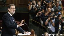 Madrid Zweite Abstimmung im spanischen Parlament über die Kandidatur von Mariano Rajoy als Ministerpräsident