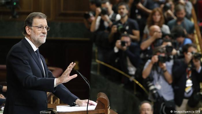 Madrid Zweite Abstimmung im spanischen Parlament über die Kandidatur von Mariano Rajoy als Ministerpräsident (Imago/Agencia EFE)