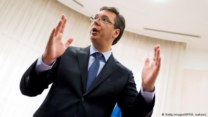 Serbien Premierminister Aleksandar Vucic
